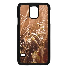 Ice Iced Structure Frozen Frost Samsung Galaxy S5 Case (black) by Amaryn4rt