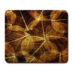 Leaves Autumn Texture Brown Large Mousepads by Amaryn4rt