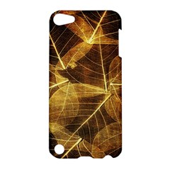 Leaves Autumn Texture Brown Apple Ipod Touch 5 Hardshell Case by Amaryn4rt