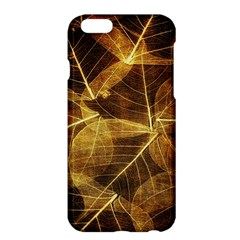 Leaves Autumn Texture Brown Apple Iphone 6 Plus/6s Plus Hardshell Case by Amaryn4rt