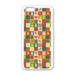 Pattern Christmas Patterns Apple Iphone 6/6s White Enamel Case by Amaryn4rt