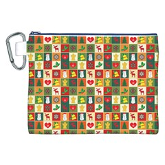 Pattern Christmas Patterns Canvas Cosmetic Bag (xxl) by Amaryn4rt