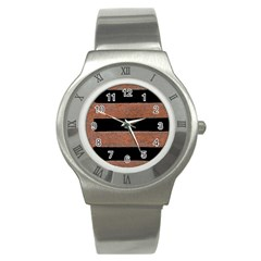 Stainless Rust Texture Background Stainless Steel Watch by Amaryn4rt