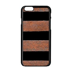 Stainless Rust Texture Background Apple Iphone 6/6s Black Enamel Case by Amaryn4rt