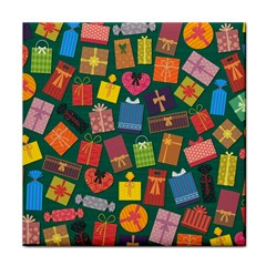 Presents Gifts Background Colorful Face Towel by Amaryn4rt