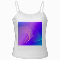 Vector Blend Screen Saver Colorful White Spaghetti Tank by Amaryn4rt