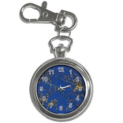 Poplar Foliage Yellow Sky Blue Key Chain Watches by Amaryn4rt