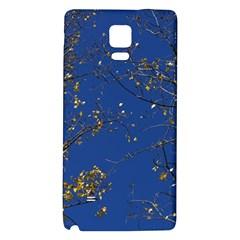 Poplar Foliage Yellow Sky Blue Galaxy Note 4 Back Case by Amaryn4rt