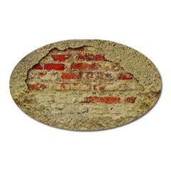Wall Plaster Background Facade Oval Magnet by Amaryn4rt