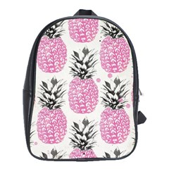Lovely Pink Pineapple  School Bags (xl)  by Brittlevirginclothing