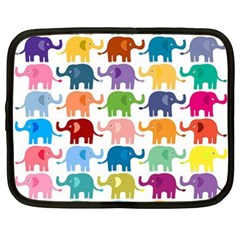 Lovely colorful mini elephant Netbook Case (XXL)  by Brittlevirginclothing