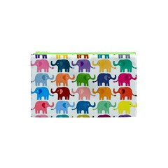 Lovely Colorful Mini Elephant Cosmetic Bag (xs) by Brittlevirginclothing