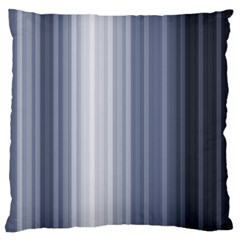 Gray Line Large Flano Cushion Case (two Sides) by Jojostore