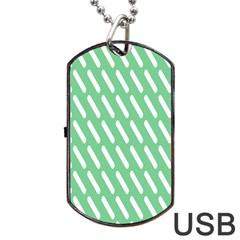 Green White Desktop Dog Tag Usb Flash (two Sides) by Jojostore