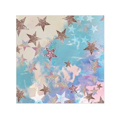 Pastel Stars Small Satin Scarf (square) by Brittlevirginclothing