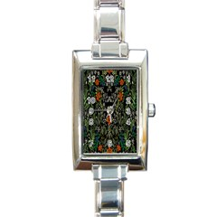 Detail Of The Collection s Floral Pattern Rectangle Italian Charm Watch by Jojostore