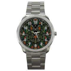 Detail Of The Collection s Floral Pattern Sport Metal Watch by Jojostore