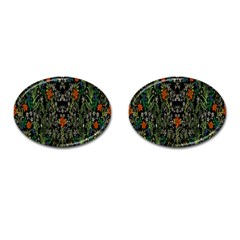 Detail Of The Collection s Floral Pattern Cufflinks (oval) by Jojostore
