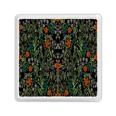 Detail Of The Collection s Floral Pattern Memory Card Reader (square)  by Jojostore