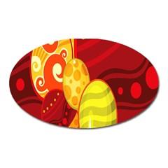 Easter Egg Circle Oval Magnet by Jojostore