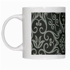 Flower Batik Gray White Mugs by Jojostore
