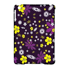 Floral Purple Flower Yellow Apple Ipad Mini Hardshell Case (compatible With Smart Cover) by Jojostore