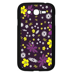 Floral Purple Flower Yellow Samsung Galaxy Grand Duos I9082 Case (black) by Jojostore
