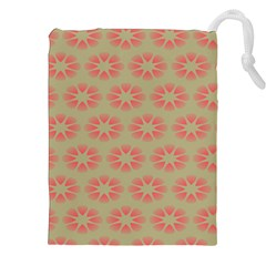 Flower Pink Drawstring Pouches (XXL) by Jojostore