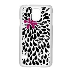 Flower Simple Pink Samsung Galaxy S5 Case (white) by Jojostore