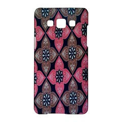 Flower Pink Gray Samsung Galaxy A5 Hardshell Case  by Jojostore