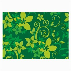 Flower Yellow Green Large Glasses Cloth (2 Side) by Jojostore
