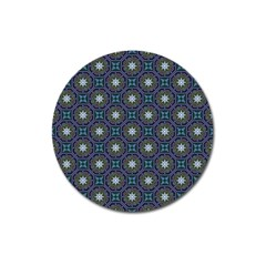 Flower Star Gray Magnet 3  (round) by Jojostore