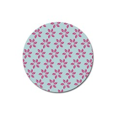 Flowers Fushias On Blue Sky Magnet 3  (round) by Jojostore