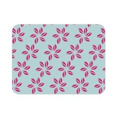 Flowers Fushias On Blue Sky Double Sided Flano Blanket (Mini)  by Jojostore