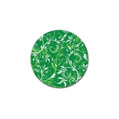 Leaf Flower Butterfly Green Golf Ball Marker by Jojostore