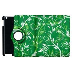 Leaf Flower Butterfly Green Apple Ipad 3/4 Flip 360 Case by Jojostore