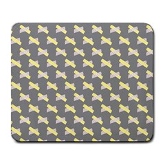 Hearts And Yellow Crossed Washi Tileable Gray Large Mousepads by Jojostore