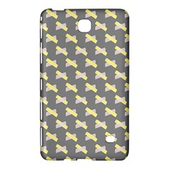 Hearts And Yellow Crossed Washi Tileable Gray Samsung Galaxy Tab 4 (8 ) Hardshell Case  by Jojostore