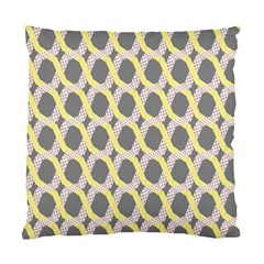 Hearts And Yellow Washi Zigzags Tileable Standard Cushion Case (one Side) by Jojostore