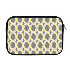 Hearts And Yellow Washi Zigzags Tileable Apple Macbook Pro 17  Zipper Case