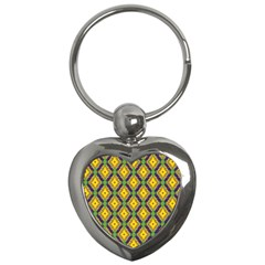 Morocco Flower Yellow Key Chains (heart)  by Jojostore