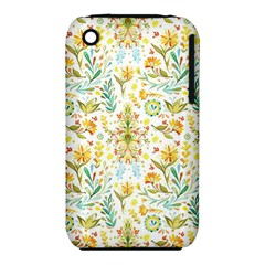 Vintage Pastel Flowers Iphone 3s/3gs by Brittlevirginclothing