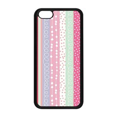 Pastel Colored  Wood Apple Iphone 5c Seamless Case (black) by Brittlevirginclothing