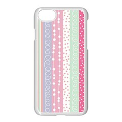 Pastel Colored  Wood Apple Iphone 7 Seamless Case (white) by Brittlevirginclothing