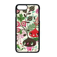 Cute Cartoon Characters Apple Iphone 7 Plus Seamless Case (black) by Brittlevirginclothing