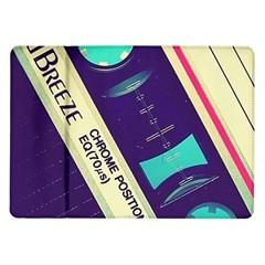 Vintage casette Samsung Galaxy Tab 10.1  P7500 Flip Case by Brittlevirginclothing
