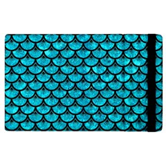 Scales3 Black Marble & Turquoise Marble (r) Apple Ipad 2 Flip Case by trendistuff