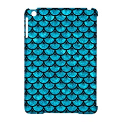 Scales3 Black Marble & Turquoise Marble (r) Apple Ipad Mini Hardshell Case (compatible With Smart Cover) by trendistuff