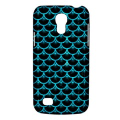 Scales3 Black Marble & Turquoise Marble Samsung Galaxy S4 Mini (gt I9190) Hardshell Case  by trendistuff
