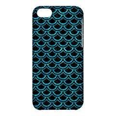 Scales2 Black Marble & Turquoise Marble Apple Iphone 5c Hardshell Case by trendistuff